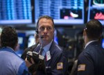 U.S. stocks lower at close of trade; Dow Jones Industrial Average down 0.15%