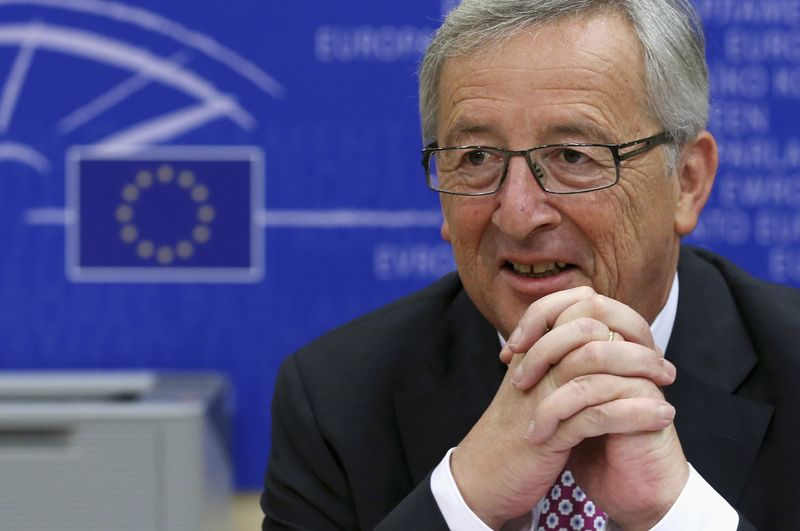 © Reuters.  EU's Juncker Says He Was Called `Brutal Killer' by Trump