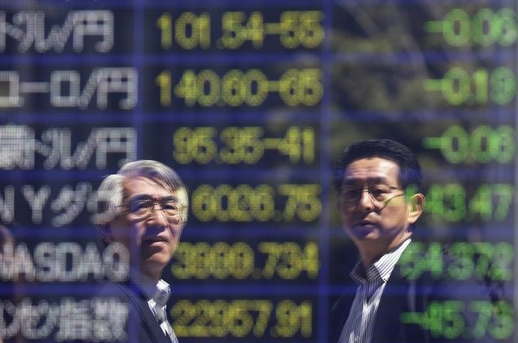 © Reuters.  Asian stocks extended their losses in morning trade on Friday