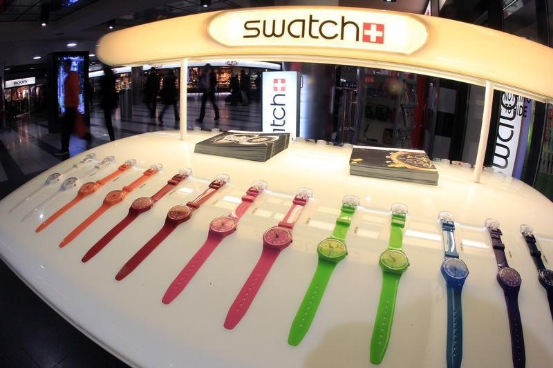 © Reuters. Swiss Watch Export Growth Slows to Weakest Pace in Three Years