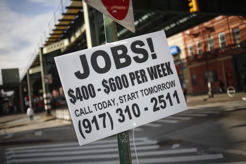 © Reuters.  More jobs numbers arriving ahead of big payrolls Friday.