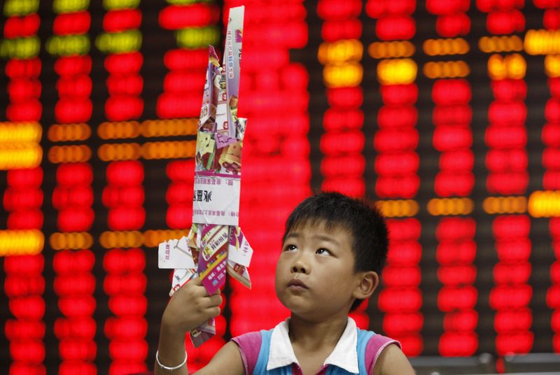 © Reuters.  Asian shares mostly higher