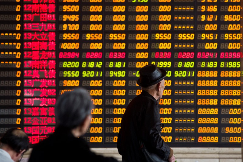 © Reuters.  China shares higher at close of trade; Shanghai Composite up 0.58%