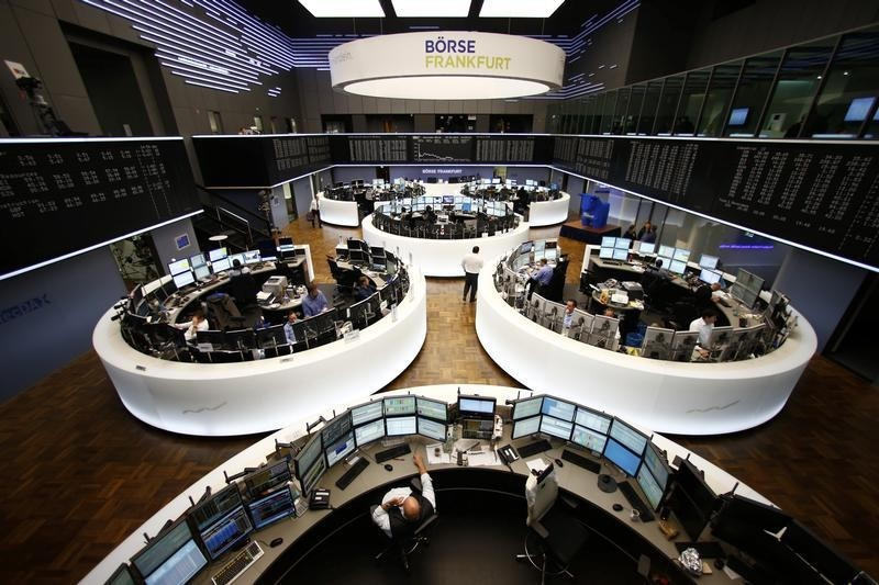 © Reuters. Germany stocks higher at close of trade; DAX up 0.47%