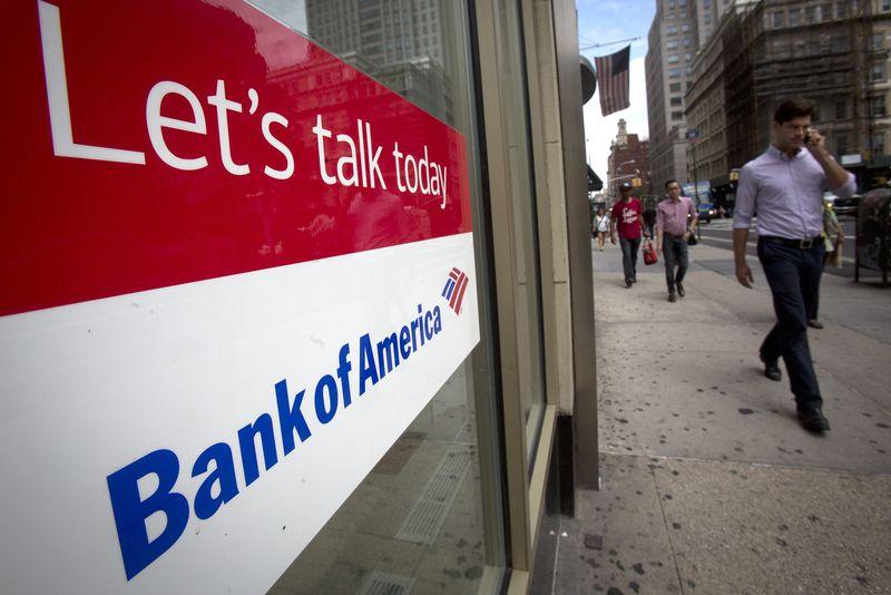 © Reuters.  Bank of America Stock Rises 7%