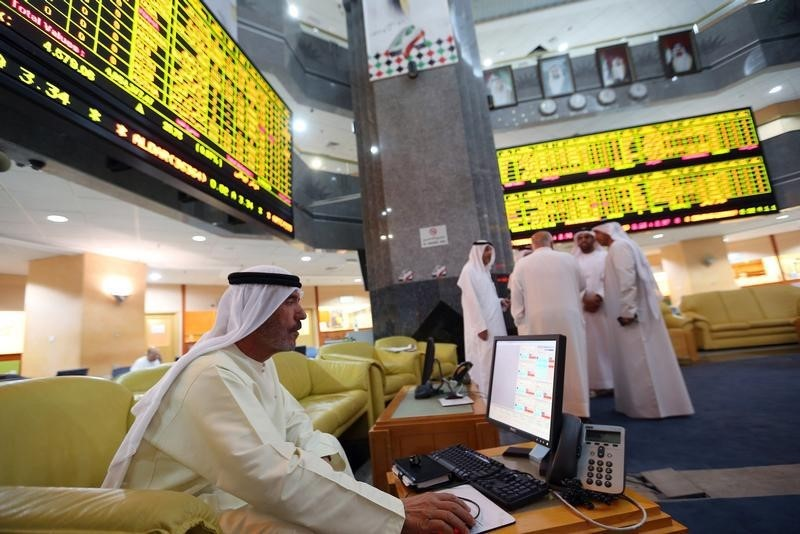 © Reuters.  United Arab Emirates stocks lower at close of trade; DFM General down 0.84%