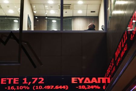 Greece stocks lower at close of trade; Athens General Composite down 0.78%