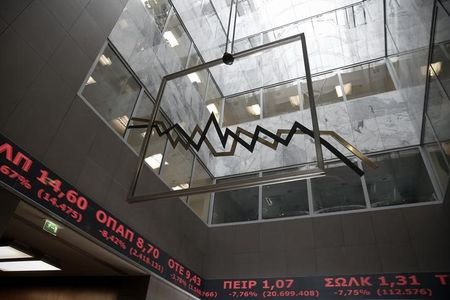 Greece stocks lower at close of trade; Athens General Composite unchanged
