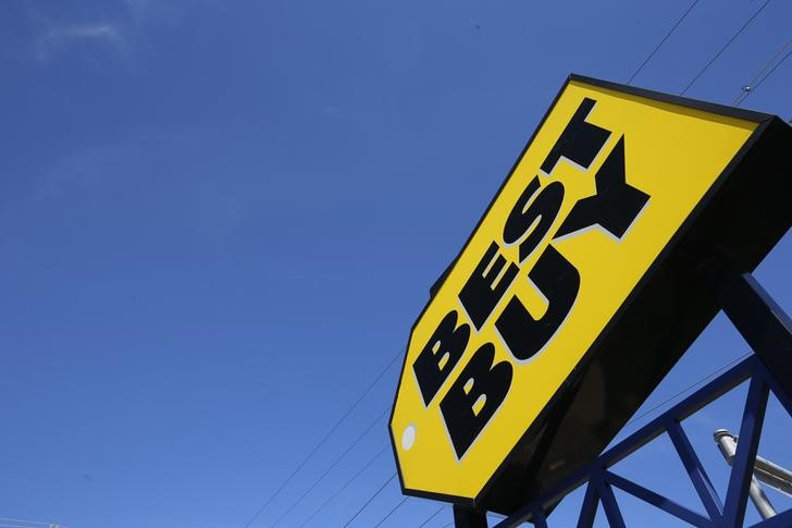 © Reuters.  Best Buy sees dramatic reversal as CEO's growth concerns spark sell-off