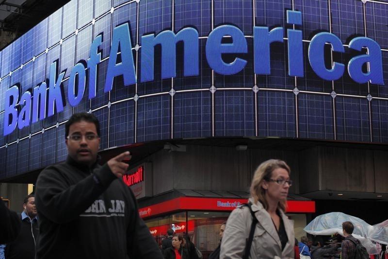 © Reuters. Bank of America Stock Falls 7%