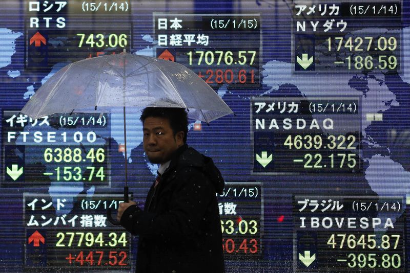 © Reuters.  Stocks surged across Asia Monday morning after the U.S. and China pause trade war