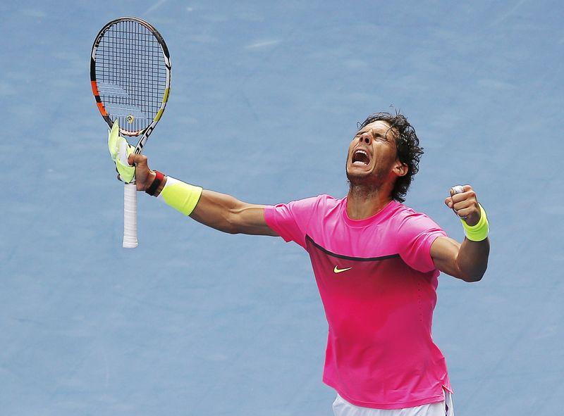 © Reuters.  Nadal derrota Fognini e se junta a Federer e Del Potro nas quartas em Xangai