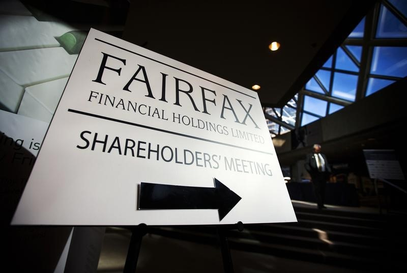 © Reuters.  BRIEF-Fairfax Settles Lawsuit With Morgan Keegan