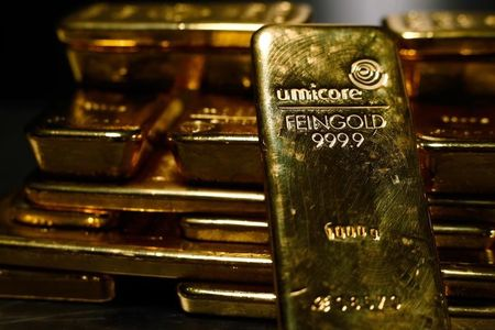 Goldfutures sinken während der Europäischen Session