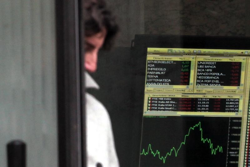 © Reuters.  Itália - Ações fecharam o pregão em alta e o Índice Investing.com Itália 40 avançou 0,01%