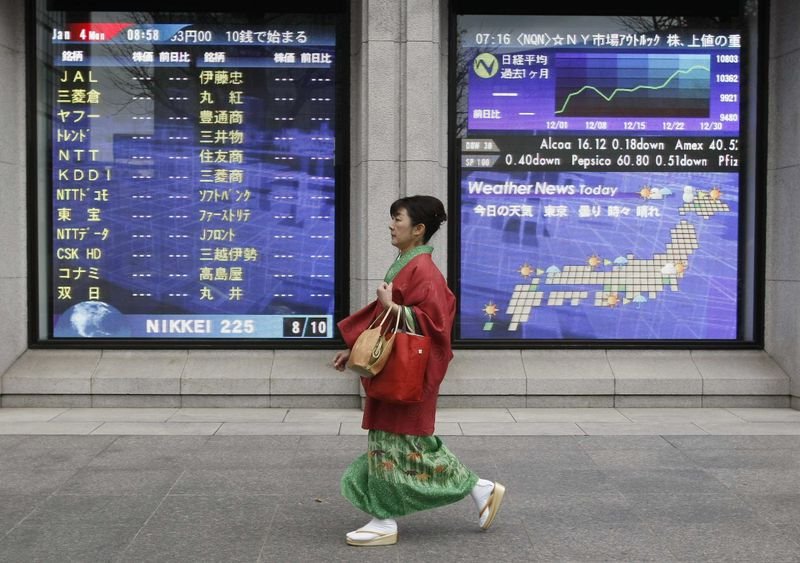 © Reuters.  Japan stocks higher at close of trade; Nikkei 225 up 0.26%