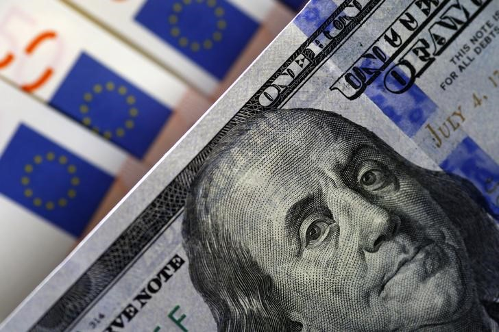 © Reuters.  Forex - EUR/USD omlaag aan het einde van Europese sessie