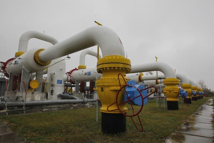 © Reuters.  Futures Gas Asli lebih rendah dalam dagangan A.S.