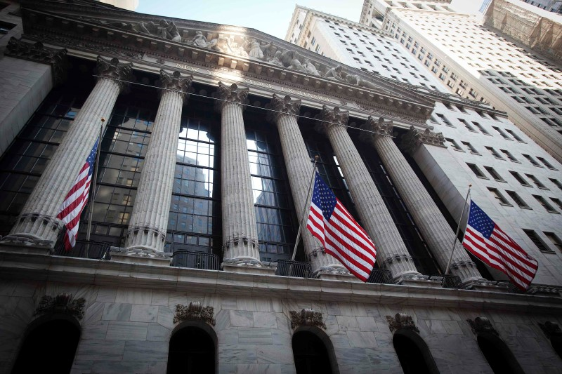 U.S. shares lower at close of trade; Dow Jones Industrial Average down