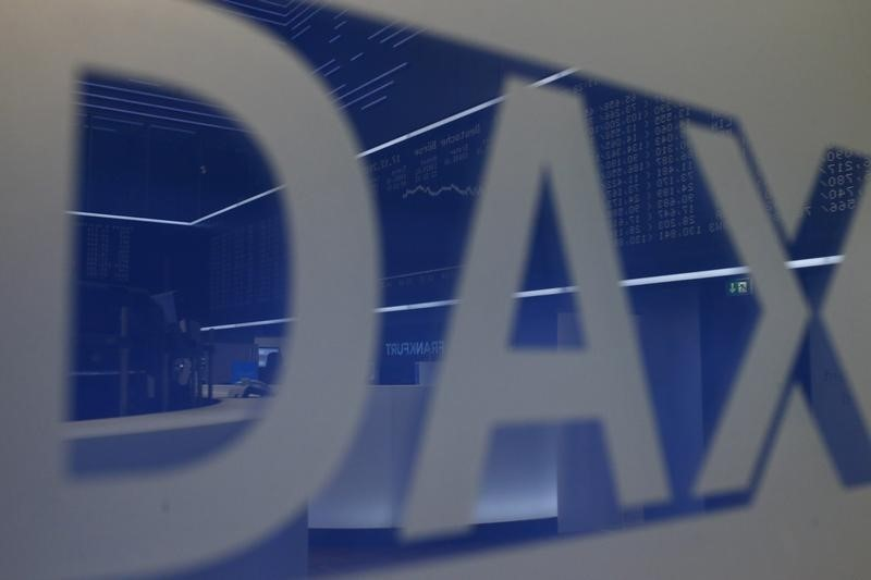 © Reuters.  Germany stocks higher at close of trade; DAX up 0.09%