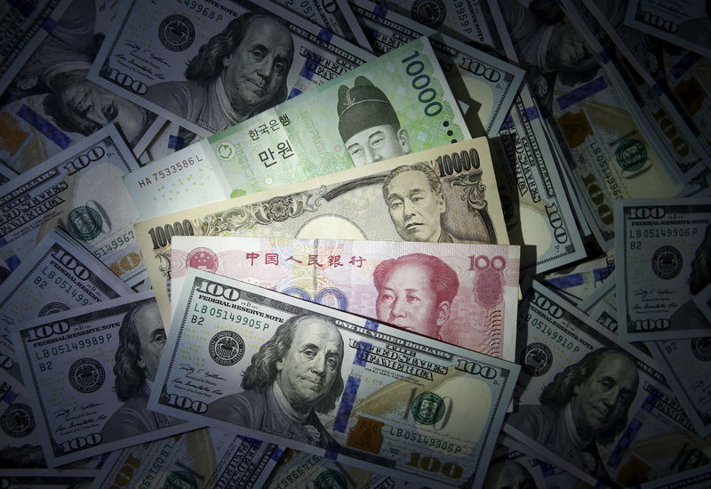 FOREX-Yen, Swiss franc slide on optimism about central bank action