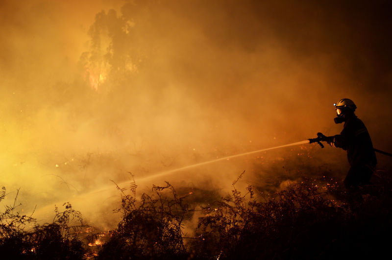 © Reuters.  Australia, facing extreme weather, gains upper hand on more than 100 bushfires