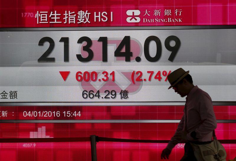 © Reuters.  La Bolsa de Hong Kong abre con una leve subida del 0,34 %
