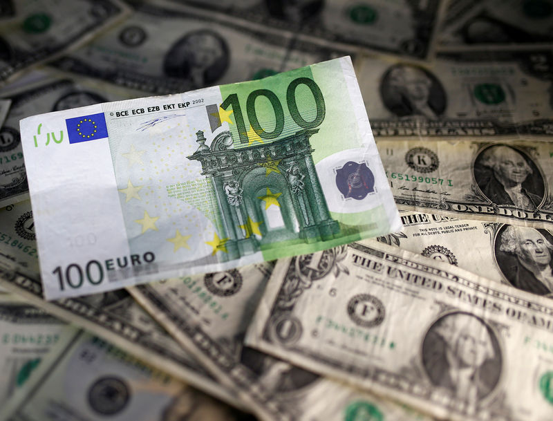 © Reuters.  Euro edges higher as stock market recovery dents dollar