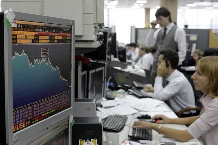 © Reuters.  Russia stocks higher at close of trade; MICEX up 0.36%