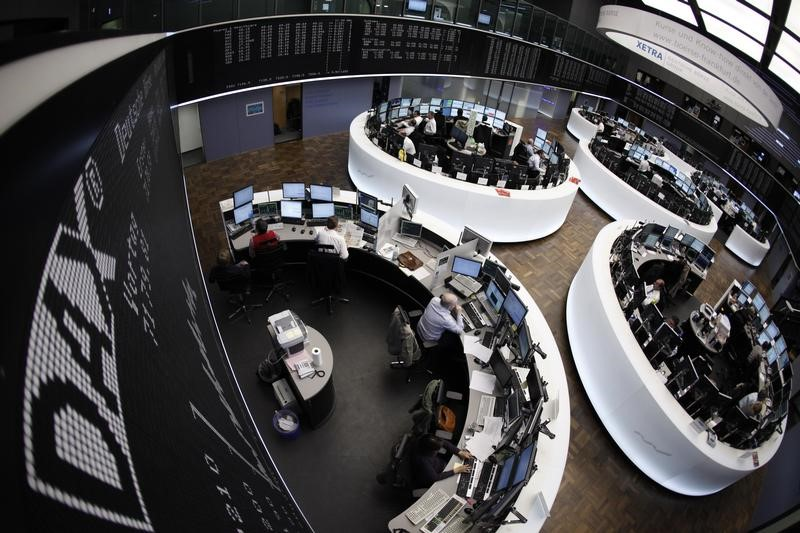 © Reuters.  Germany stocks higher at close of trade; DAX up 1.00%