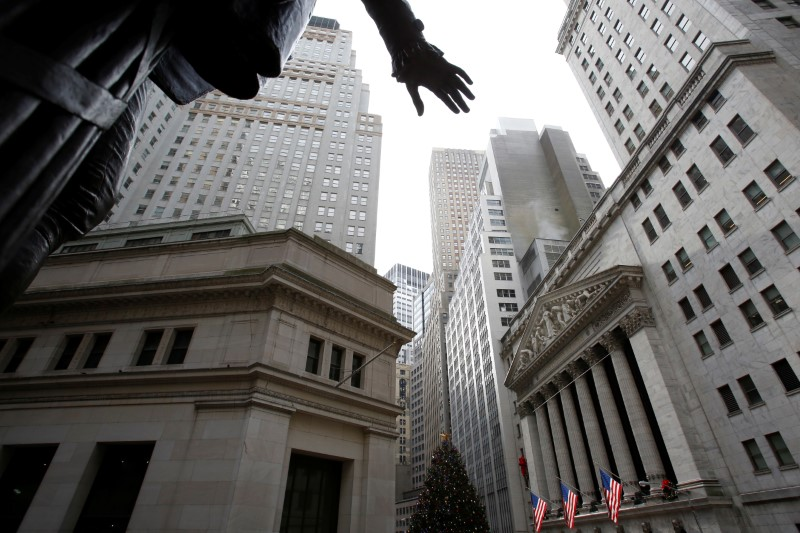 © Reuters.  US STOCKS-Wall Street dips again, inflation data calms nerves