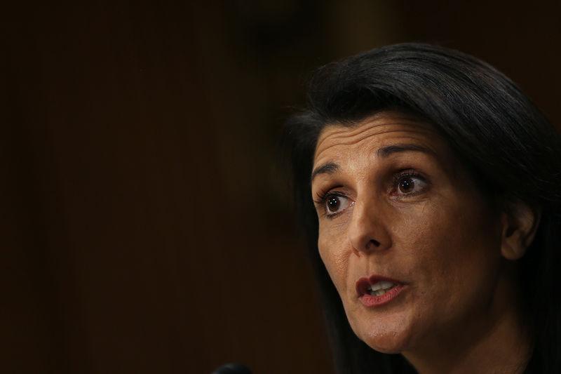 © Reuters.  러시아, 대북 금융 규제 해제 원해 - 헤일리 주 유엔 미국 대사