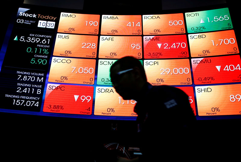 © Reuters.  Indonesia shares lower at close of trade; Jakarta Stock Exchange Composite down 0.34%