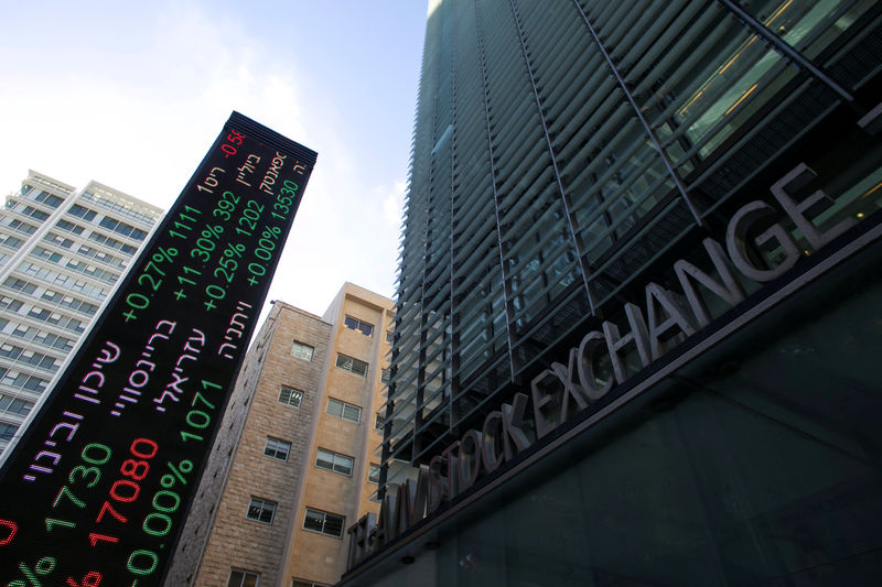 © Reuters.  Israel stocks lower at close of trade; TA 35 down 0.20%