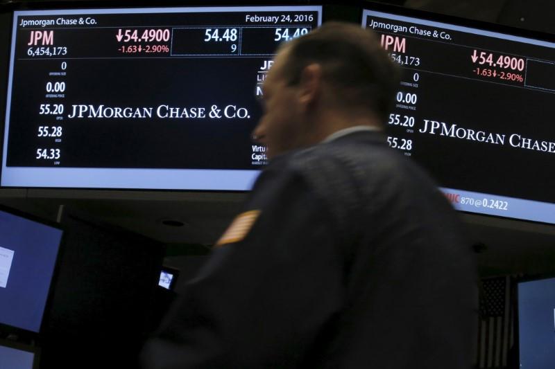Stocks - JP Morgan, Wells Fargo Fall Premarket