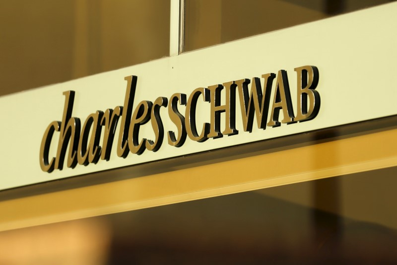 Financial Stocks Active Midday as Charles Schwab Downgraded to Sell