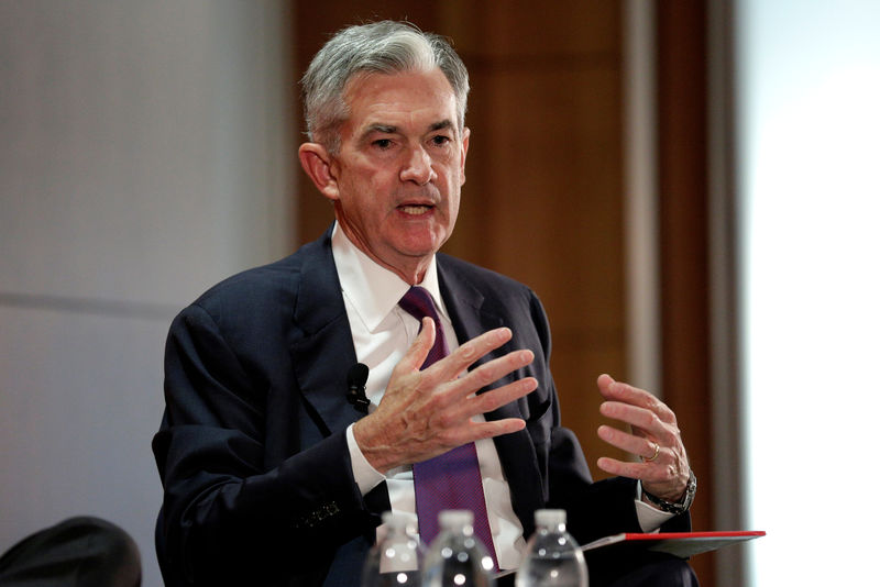 © Reuters.  Fed-Chef Jerome Powell: Zinsen