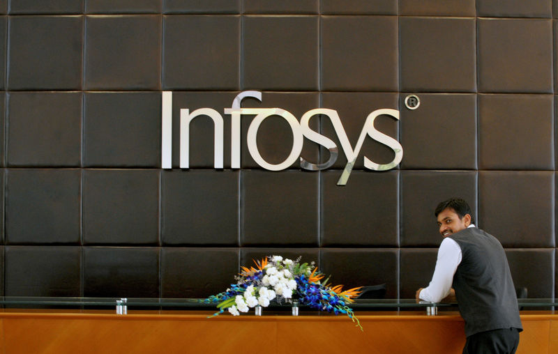 Indian shares close higher on Infosys boost