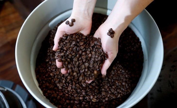 SOFTS-Arabica coffee climbs as Brazil's currency strengthens By Reuter