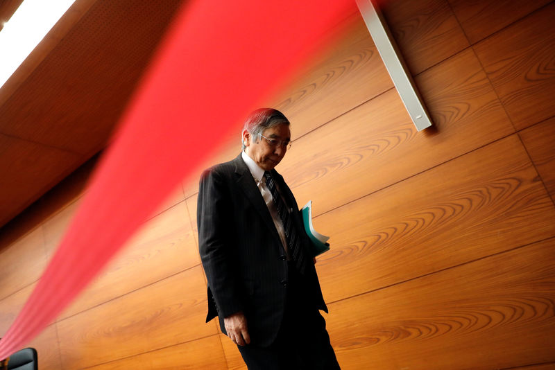 © Reuters.  BOJ Kuroda: Need to stick with QE for price stability