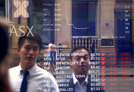Australia shares lower at close of trade; S&P/ASX 200 down 1.11%