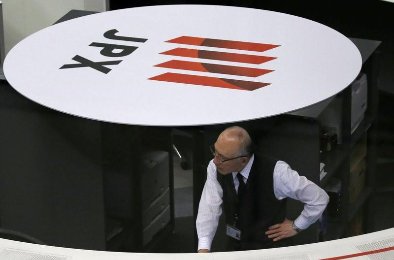 © Reuters.  Japan stocks lower at close of trade; Nikkei 225 down 0.78%