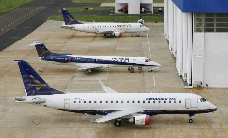 © Reuters.  Por que a ação da Embraer só cai?