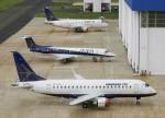 Embraer faz voo inaugural do jato comercial E175-E2 em São José dos Campos, SP