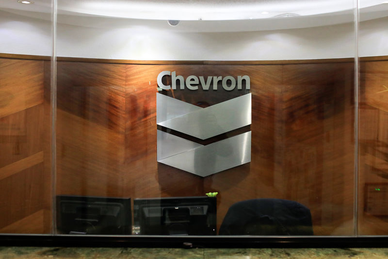 © Reuters. Chevron Stock Rises 3%