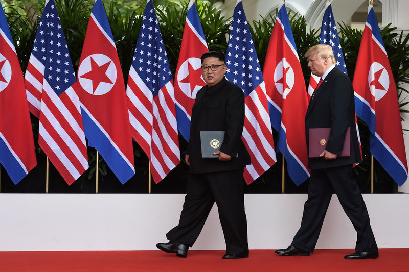 © Reuters.  Trump and Kim agree to work towards 'complete denuclearization of Korean penninsula