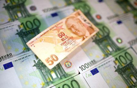 Euro em baixa e portos seguros em alta devido à queda da lira turca