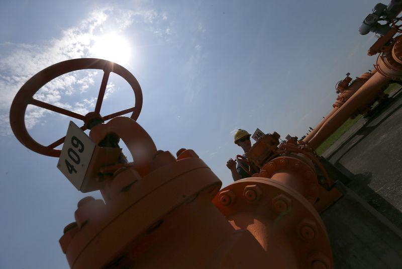 © Reuters.  U.S. natural gas futures extend rally