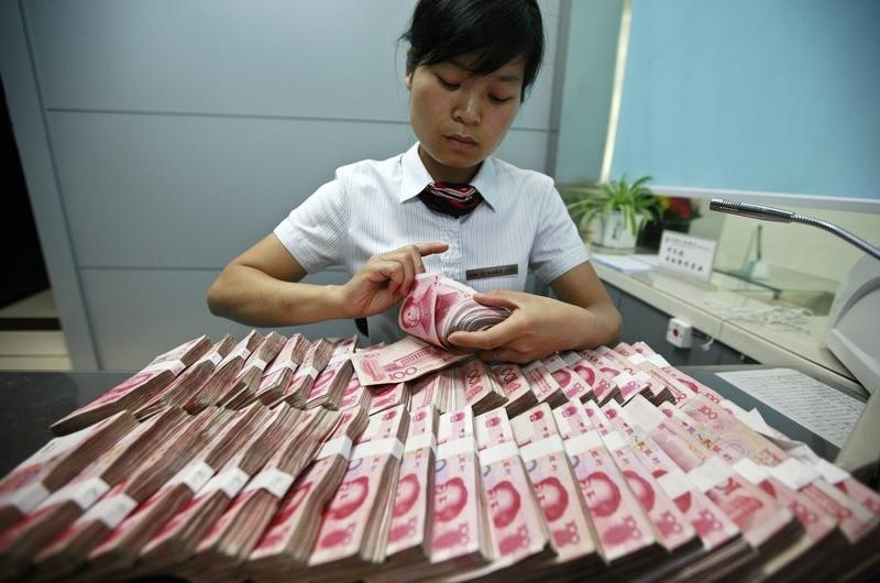 © Reuters.  China's Credit Growth Rebounds on Seasonal Boost, Policy Support