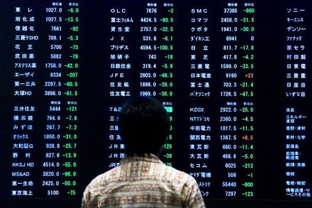 GLOBAL MARKETS-Asian shares higher on U.S. earnings but trade worries rattle offshore yuan